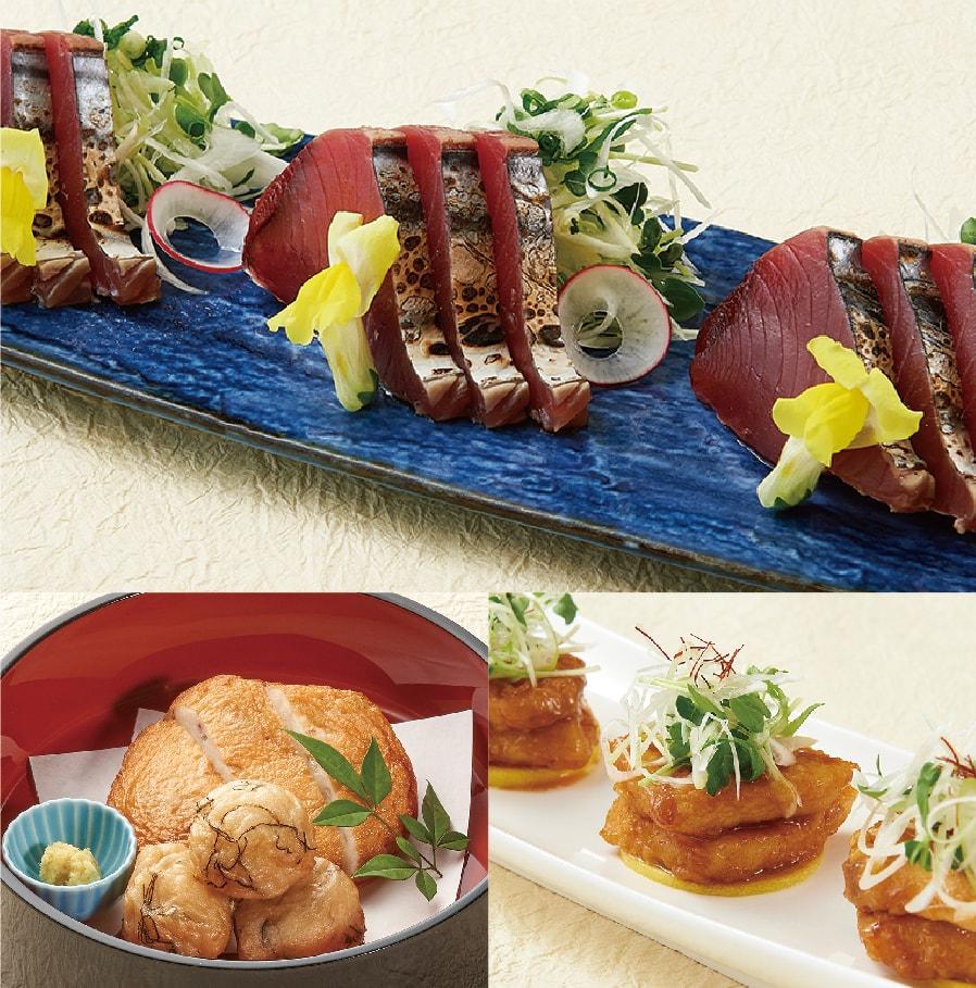 旬魚のお造りとメカジキステーキコース【7品】