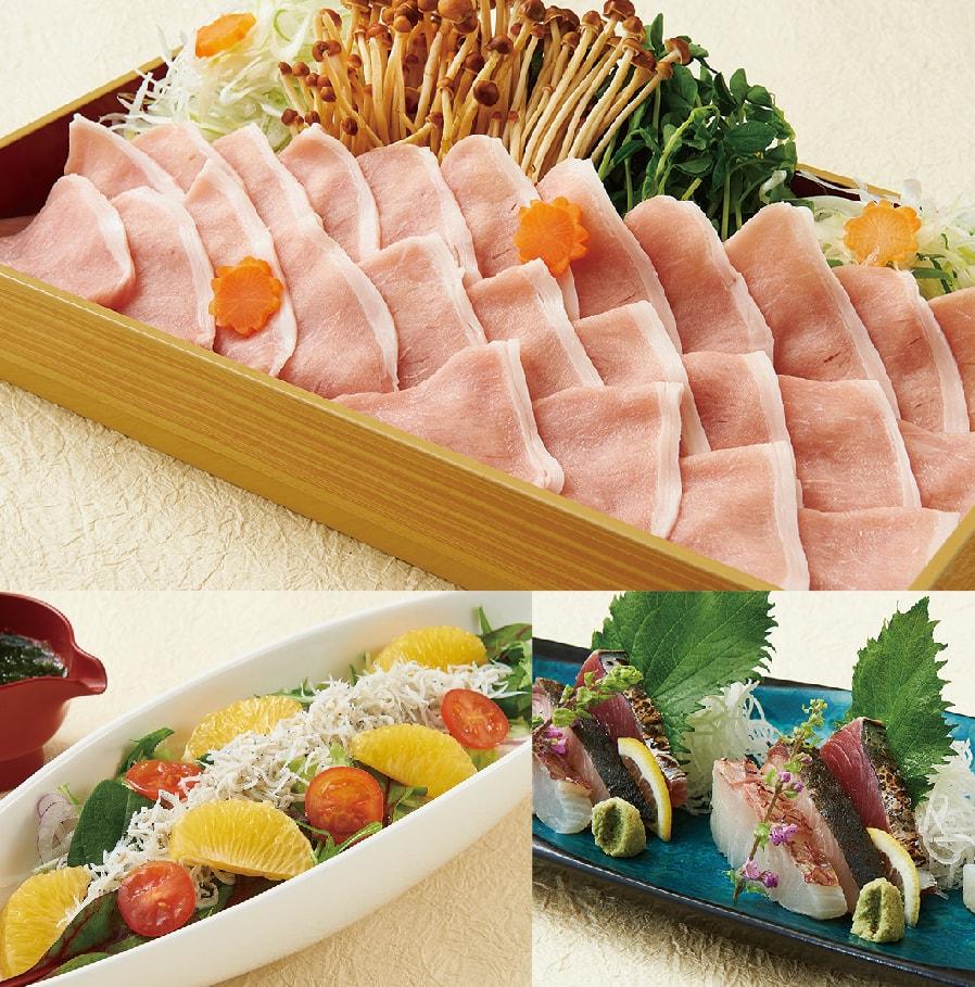 選べるメイン料理の焼しゃぶコース【7品】