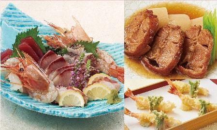 豪華大漁盛りと欣喜の煮付けコース【8品】